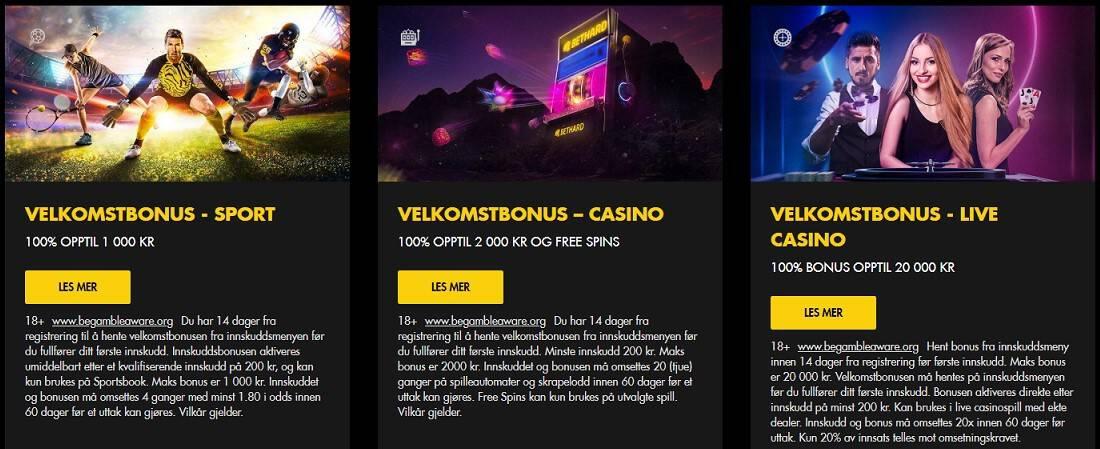 bethard casino bonuser
